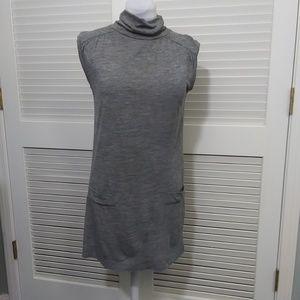 Zara Basic Sleeveless Turtleneck Tee Shirt Dress